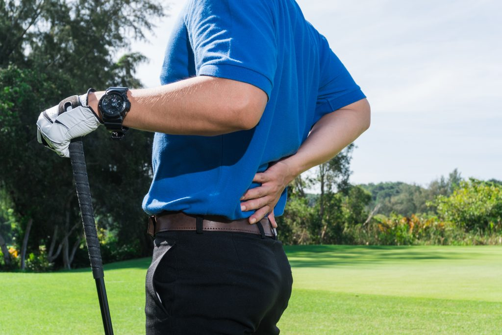 Golfer with Back Pain