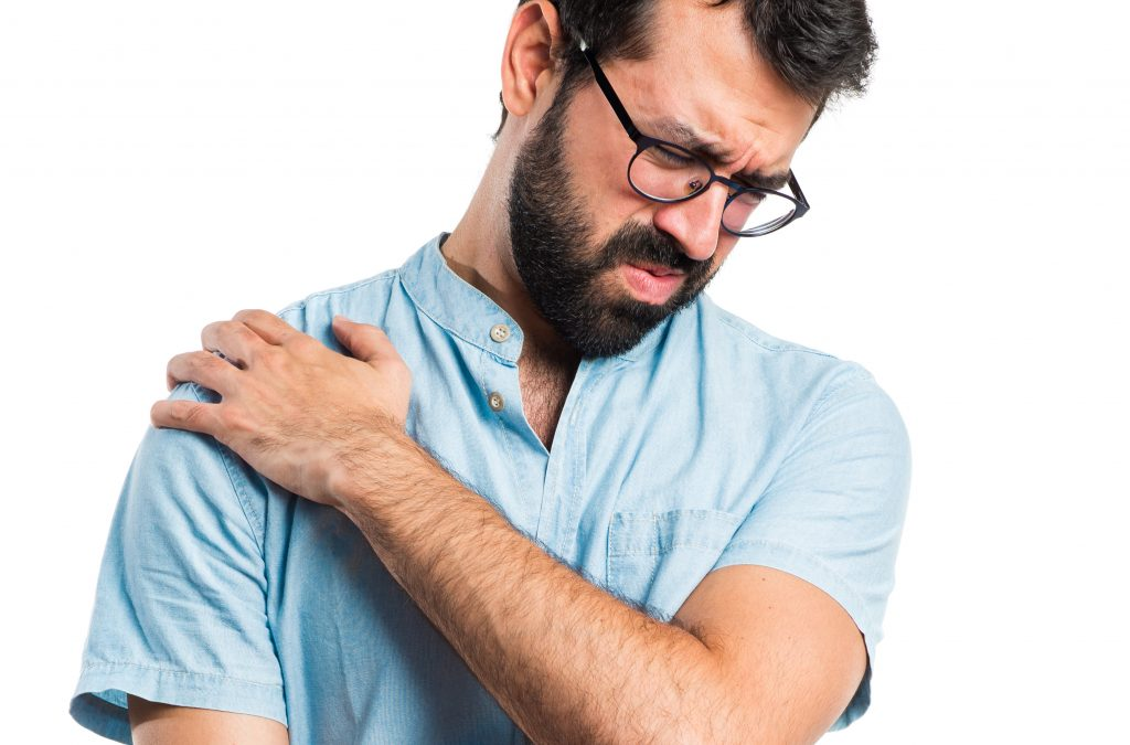 Male with shoulder pain